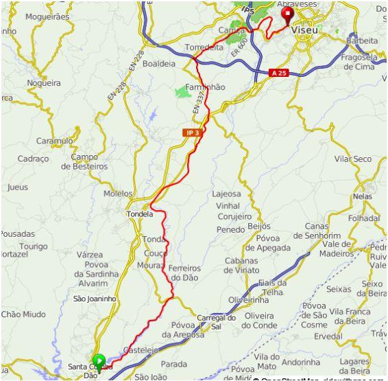 Карта велосипедного маршрута