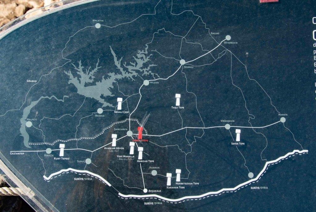 Карта стоянок неолита в турецком Курдистане
