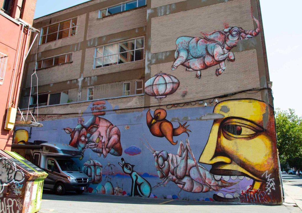 граффити - открытый рот