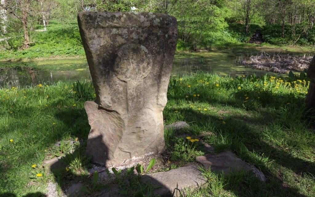 Аланское городище в Нижнем Архызе - крест  древних аланов