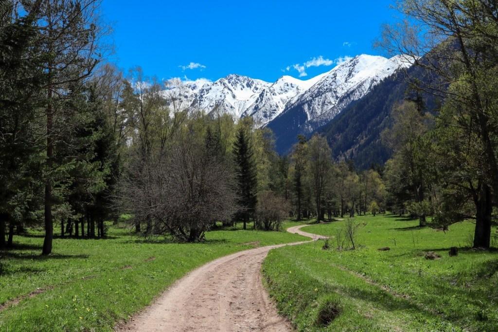 дорога уходит в горы