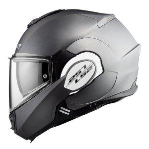 Casco Moto Abatible Ls2 Ff399 Valiant Solid Titanio Mate
