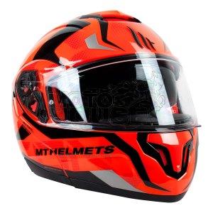 Casco Abatible Mt Helmets Atom Divergence Naranja