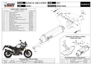 Escape Speed Edge Mivv Para Suzuki Dl1000 2014-