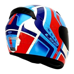 Casco P/ Motociclismo Integral Ls2 Ff352 Rookie Cian/rojo