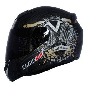 Casco P/ Motociclismo Integral Ls2 Ff352 Rookie Engine Heart