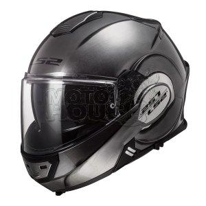 Casco Moto Abatible Ls2 Ff399 Valiant Jeans Titanio/negro