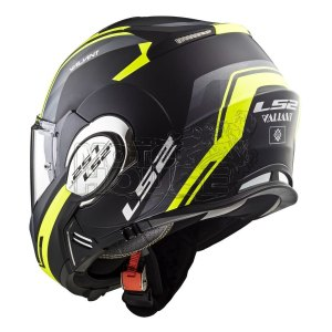 Casco Moto Abatible Ls2 Ff399 Valiant Line Negro/amarillo
