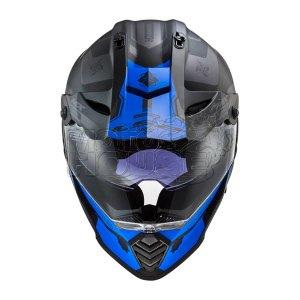 Casco Dbe Proposito Ls2 Pioneer Evo Mx436 Cobra Ngo/azul