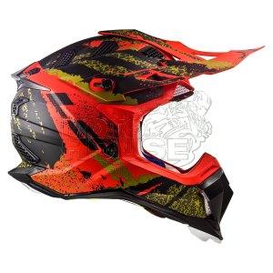Casco Cross Ls2 Mx470 Subverter Claw Negro/rojo Mate