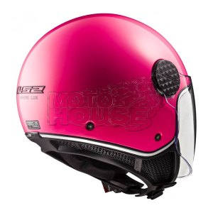 Casco Jet P/ Motociclismo Ls2 Of558 Sphere Lux Rosa