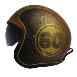 Casco Jet Motociclismo Ls2 Of599 Spitfire Japy 1959 Cafe/oro