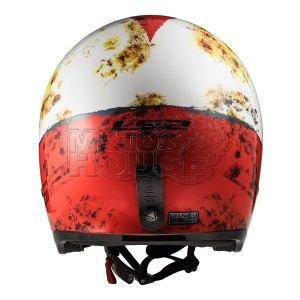 Casco Jet Motociclismo Ls2 Of599 Spitfire Rust Rojo/blanco