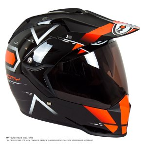 Casco Motociclismo Doble Prop. Suomy Mx Tourer Naranja