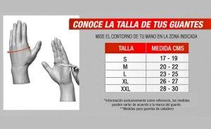 Guantes Para Motociclismo R7 Mod. 151 Negro Piel/textil