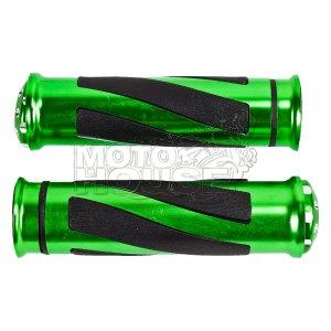 Puño Para Motocicleta Rialli Classic Verde