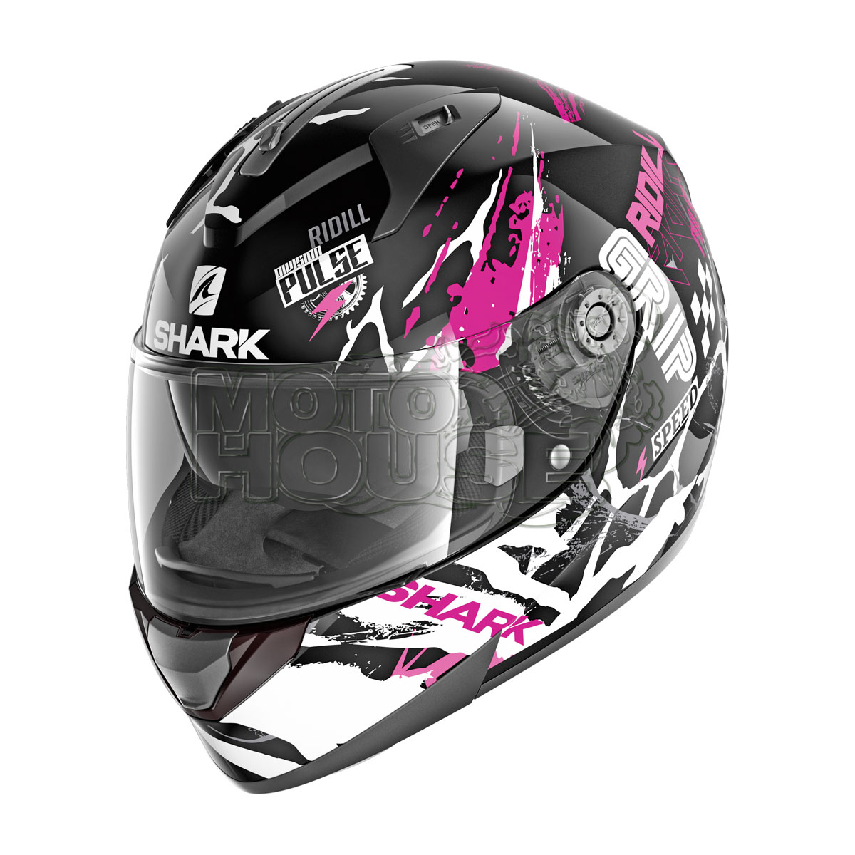 Casco Integral Shark Ridill Drift Negro/rosa