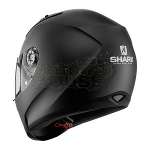 Casco Integral Shark Ridill Blank Negro Mate
