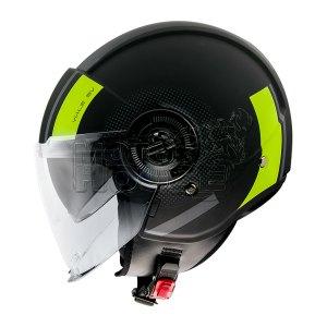 Casco Jet Mt Helmets Viale Sv Phantom Amarillo Fluo