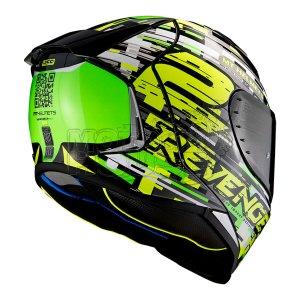 Casco Integral Mt Helmets Revenge 2 Baye Verde Fluo