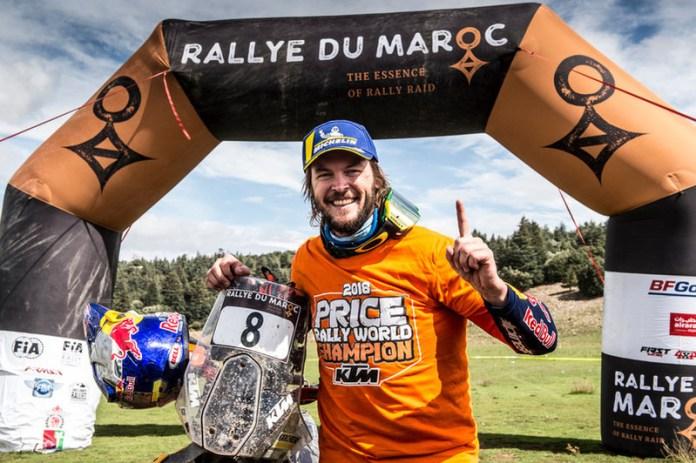 Toby Price campeão Rally du Maroc 2018