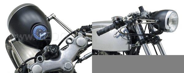 SR400 kedo メーター埋め込みヘッドライト