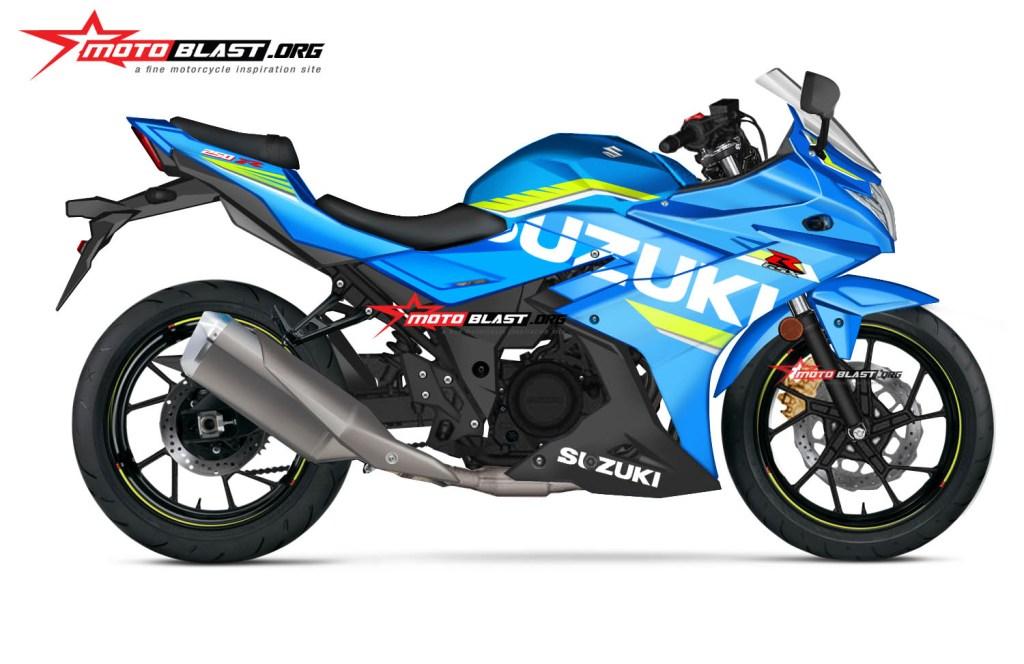 Renderan Suzuki GSX-R250 dari MotoBlast