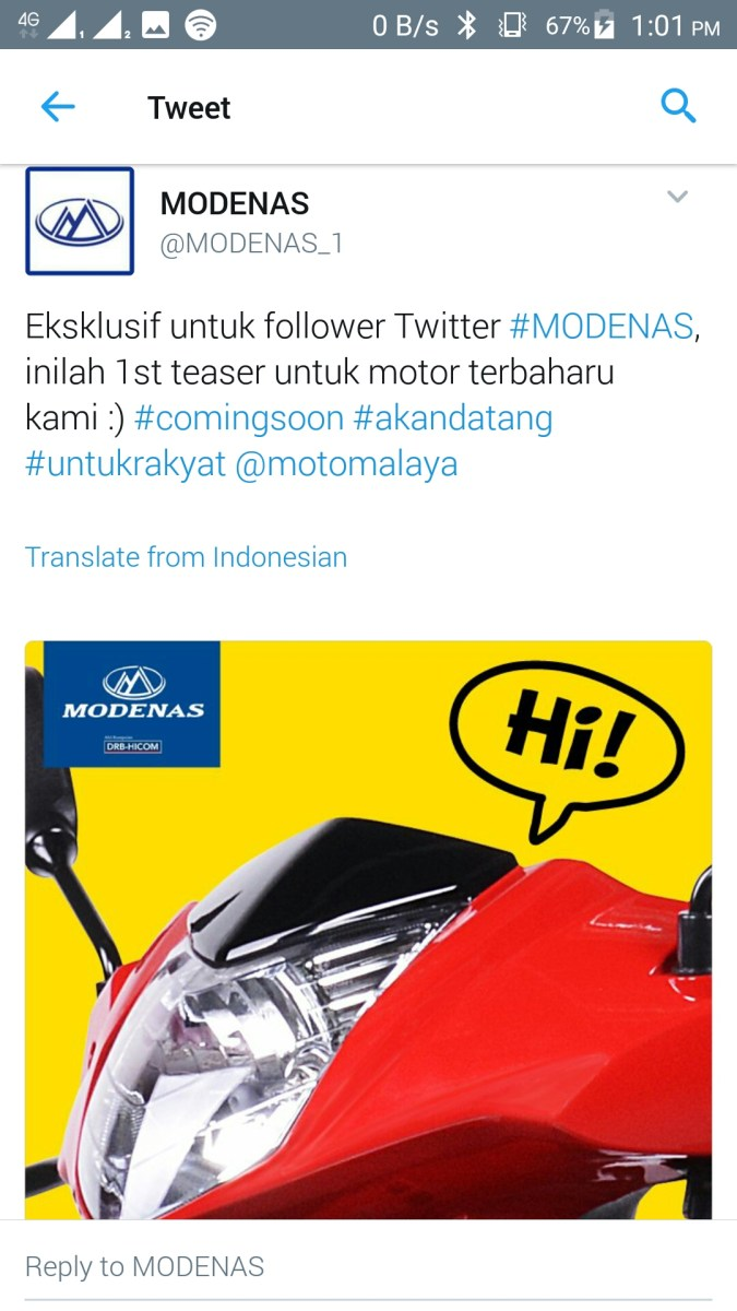Usikan Jentera Modenas untuk 2017 - moped 150cc kah? Kemaskini: Mungkin Tidak