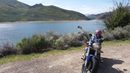 Pulled off to nurse my wounds, at the East Canyon Resevoir