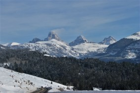 The west side of the Tetons