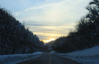 Sunset in Mink Creek Canyon