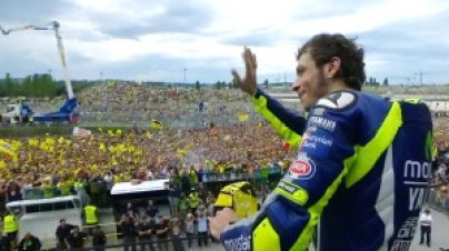 Rossi on stage misano