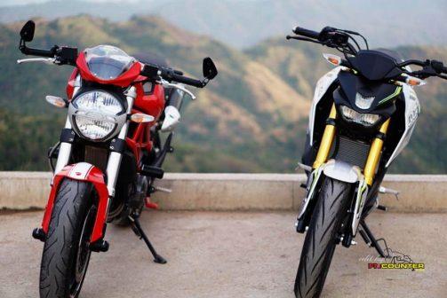 Xabre 150 vs Ducati Monster 3