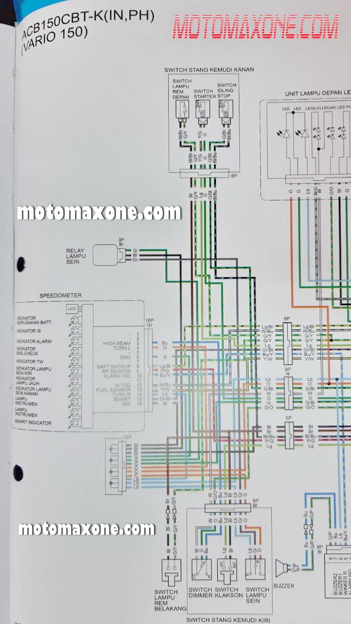 wiring diagram kelistrikan suzuki thunder 125 lc 9988  wiring diagram vario 150  lc 9988  wiring diagram vario 150