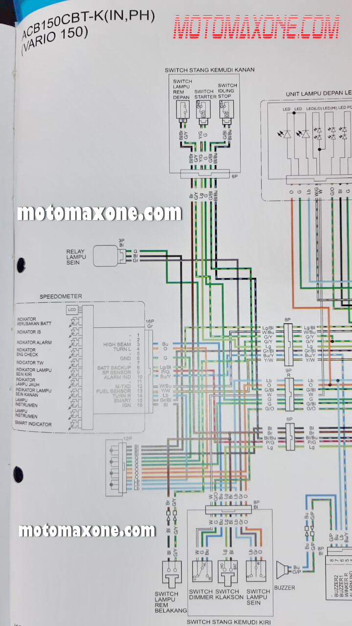 Diagram Wiring Diagram Kelistrikan Honda Vario Full Version Hd Quality Honda Vario Pvdiagramxbrick Trkbrd It