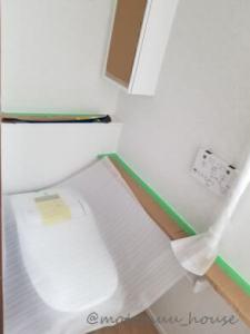 上棟50日目1階トイレ