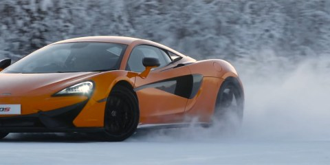 McLaren 570S on ice video