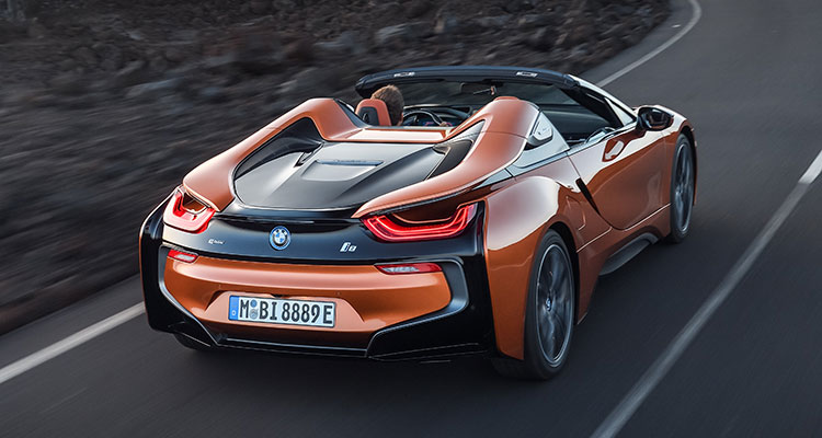 BMW i8 Convertible rear