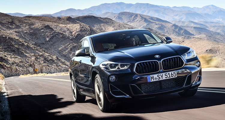 BMW X2 M35i exterior front side 1