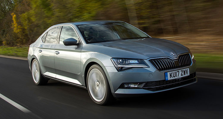Skoda Superb front side