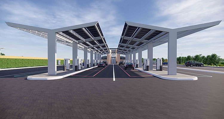 Large EV Charging Forecourt Being Built in Essex (2)