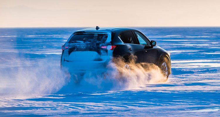 Mazda CX-5 at Lake Baikal