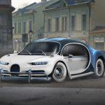 Bugatti Chiron / Volkswagen Beetle