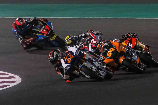 Arón Canet en el Gran Premio de Qatar 2020