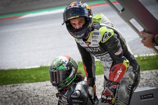 Zarco y Morbidelli tras el accidente en el Gran Premio de Austria 2020
