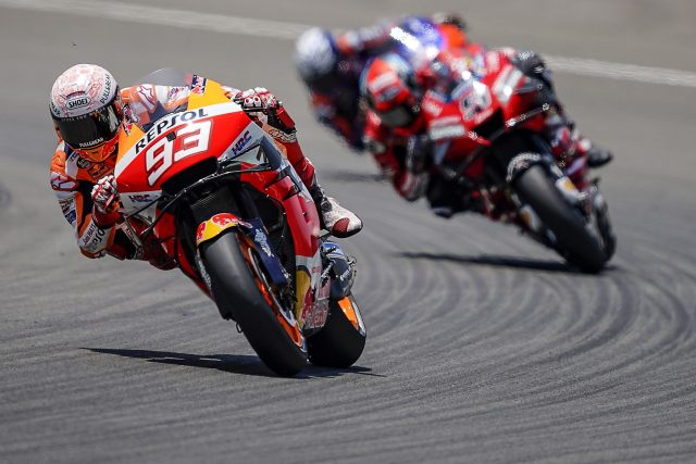 Marc Márquez durante el Gran Premio de España de MotoGP