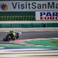 Valentino Rossi con el equipo Petronas en MotoGP 2021