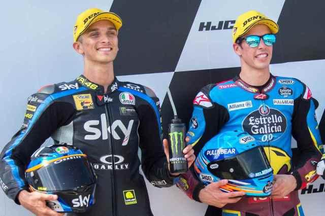 Luca Marini Alex Márquez 2019 Moto2