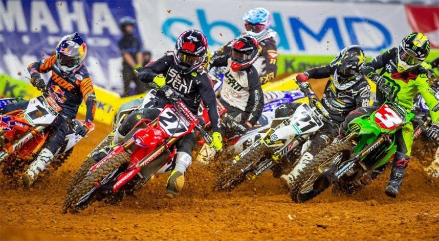 Video, AMA Motocross FINAL em Sacramento CA