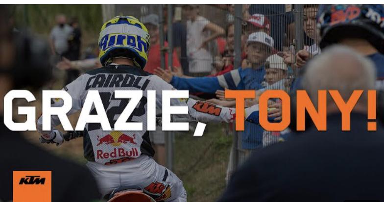 Vídeo MXGP, A KTM agradece a Antonio Cairoli
